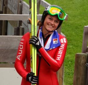 Carina Vogt hat allen Grund zur Freude – Frauen-Skispringen ist 2014 in Sotschi erstmals olympisch.
