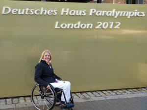 Seit einem Reitunfall ist Maria Kühn auf den Rollstuhl angewiesen. Kühn haderte nicht lange. Die Belohnung folgte 2012 als sie mit der Rollstuhlbasketball-Mannschaft zu den Paralympics nach London fuhr. Foto: Privatbild Kühn