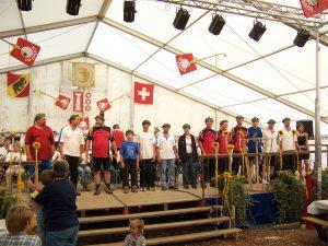 Die HG Großrinderfeld zu Besuch bei der Schweizer HG Epsach. (Bild: Andreas Zeisner)